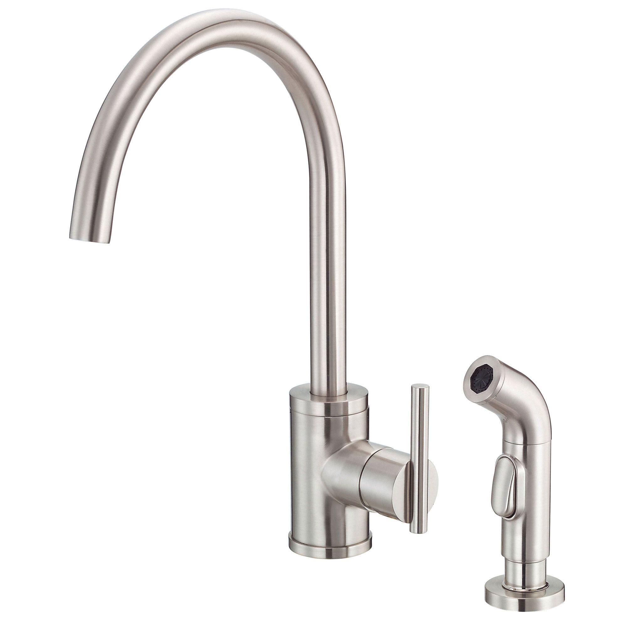 Danze Parma Stainless Steel Modern Single Handle Kitchen Faucet