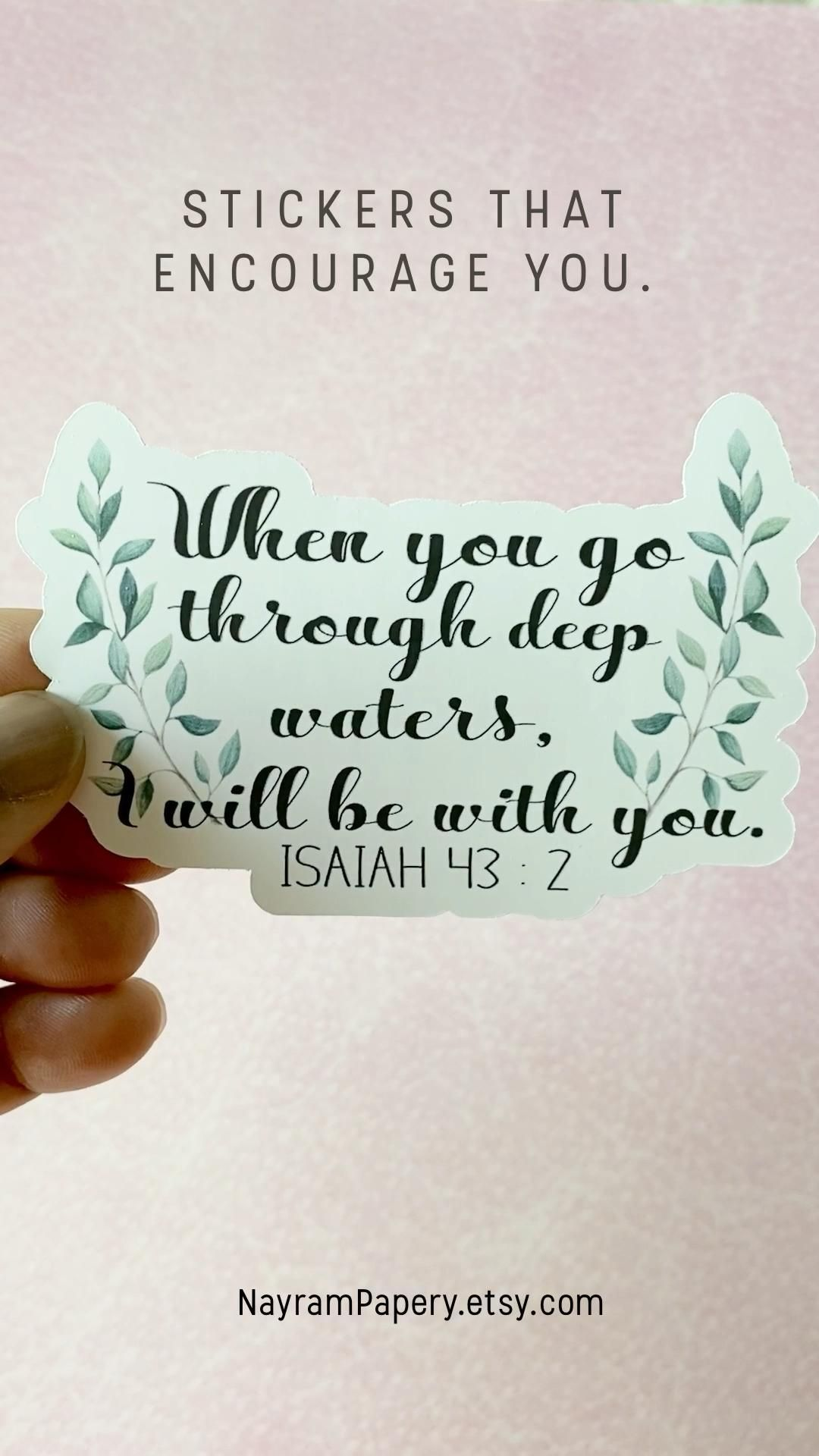 I will be with you sticker