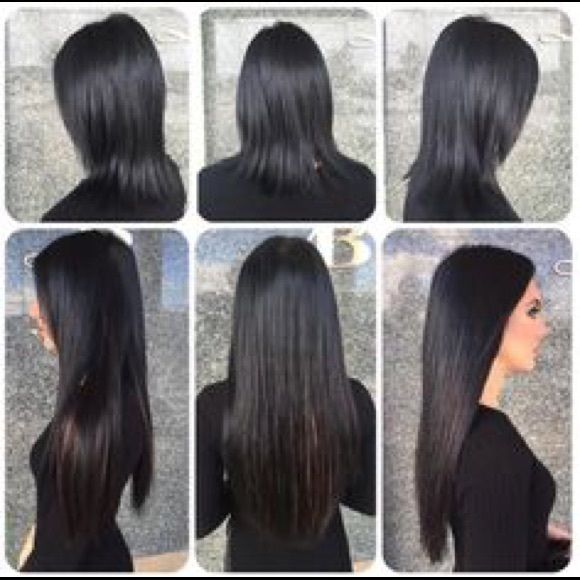 Babe Tape In Hair Extensions In Jet Black 22 Used Once Great