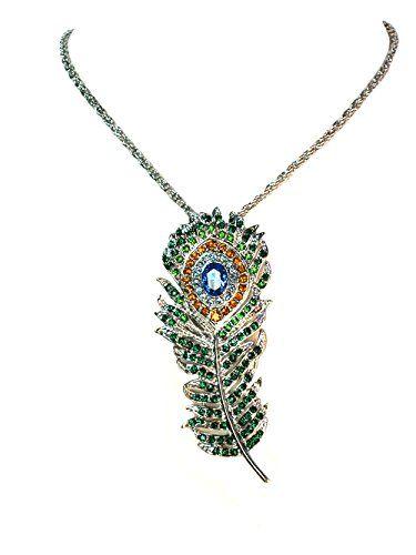 Faship Muliti Rhinestone Crystal Peacock Feather Pendant Necklace Faship http://www.amazon.com/dp/B00TBBB5ZI/ref=cm_sw_r_pi_dp_6czJvb0ARPRDB