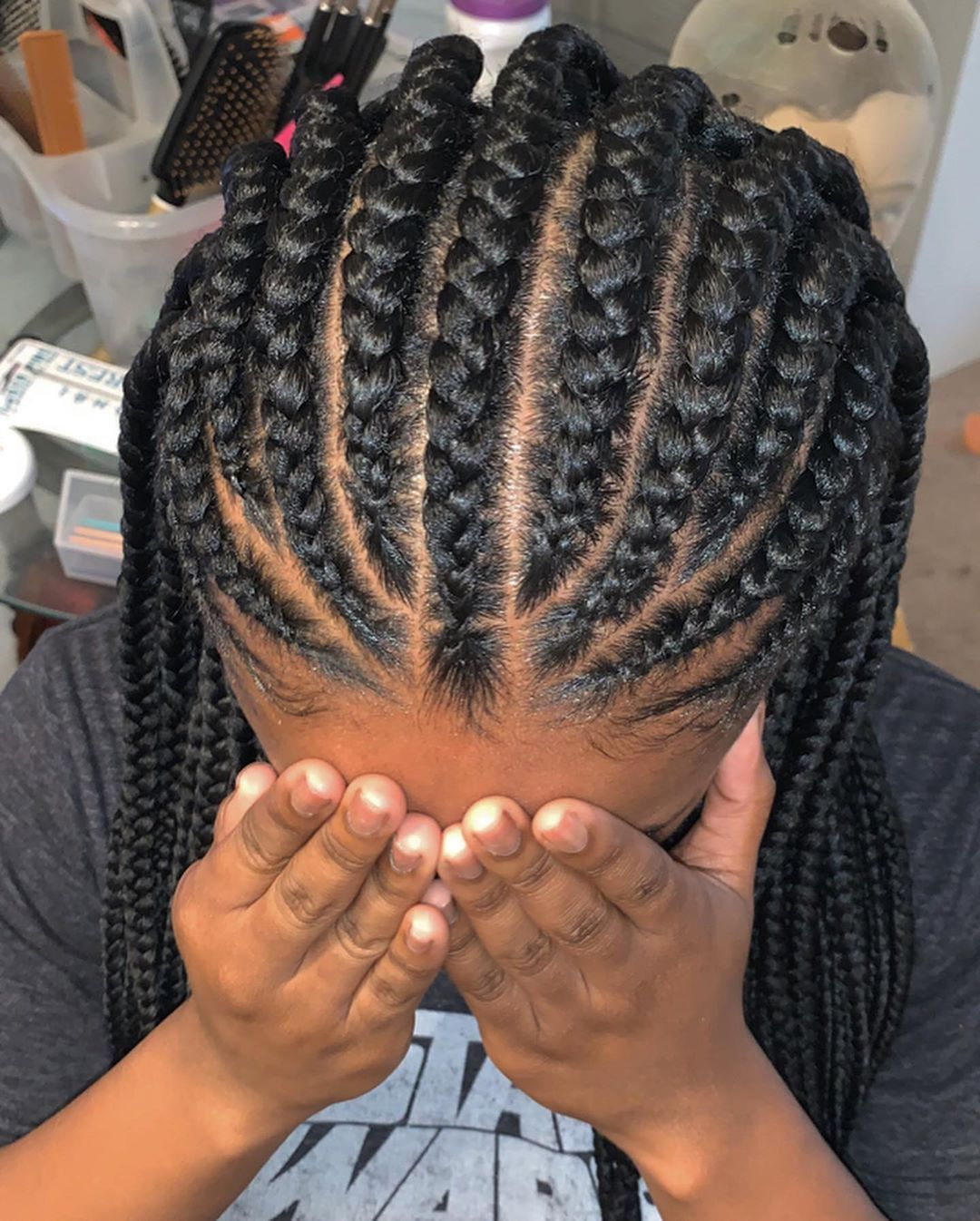 half up prom hair with twists #blackhair # fulani Braids with curls # fulani Braids prom