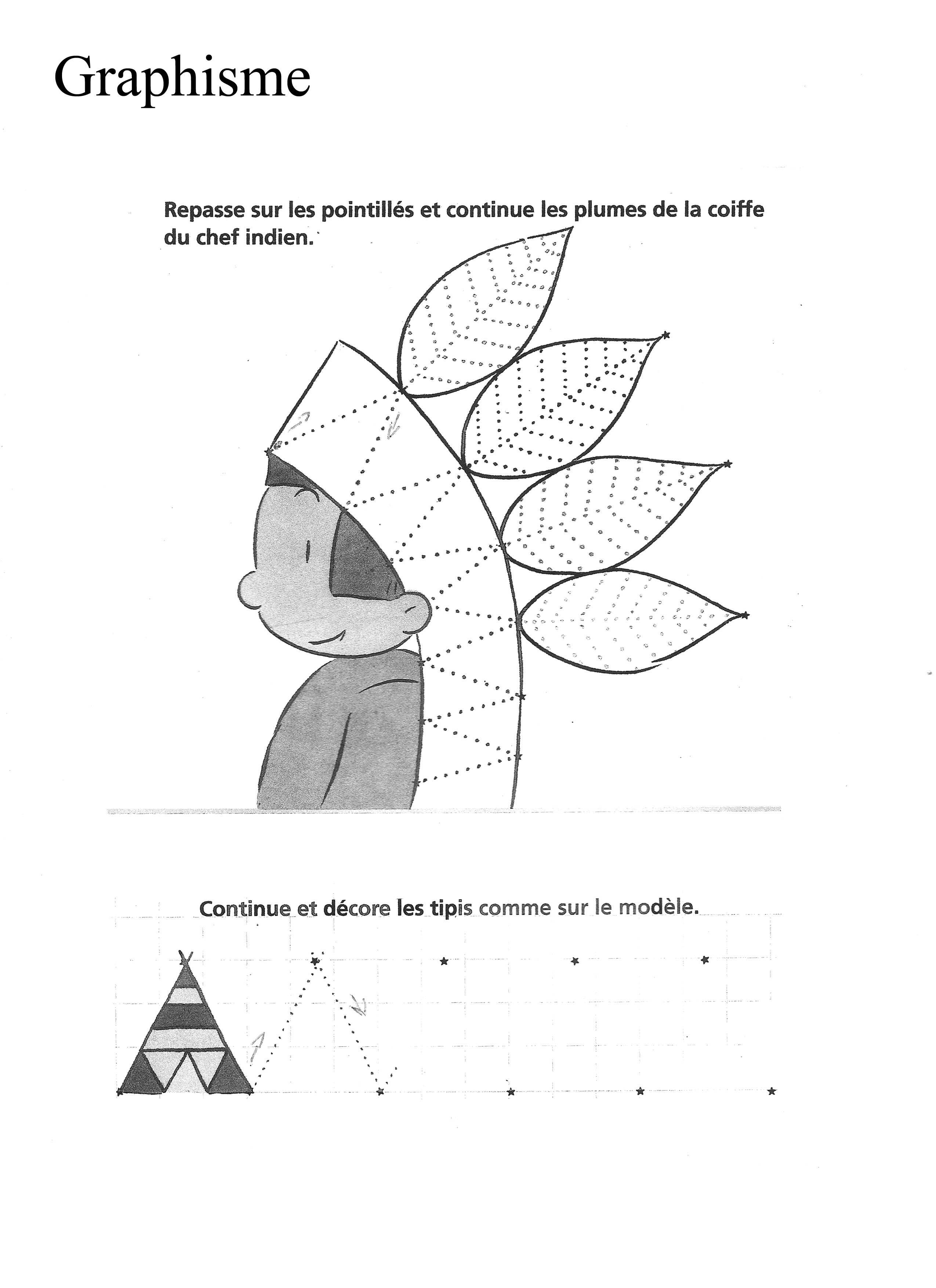 Native American Tracing Worksheet