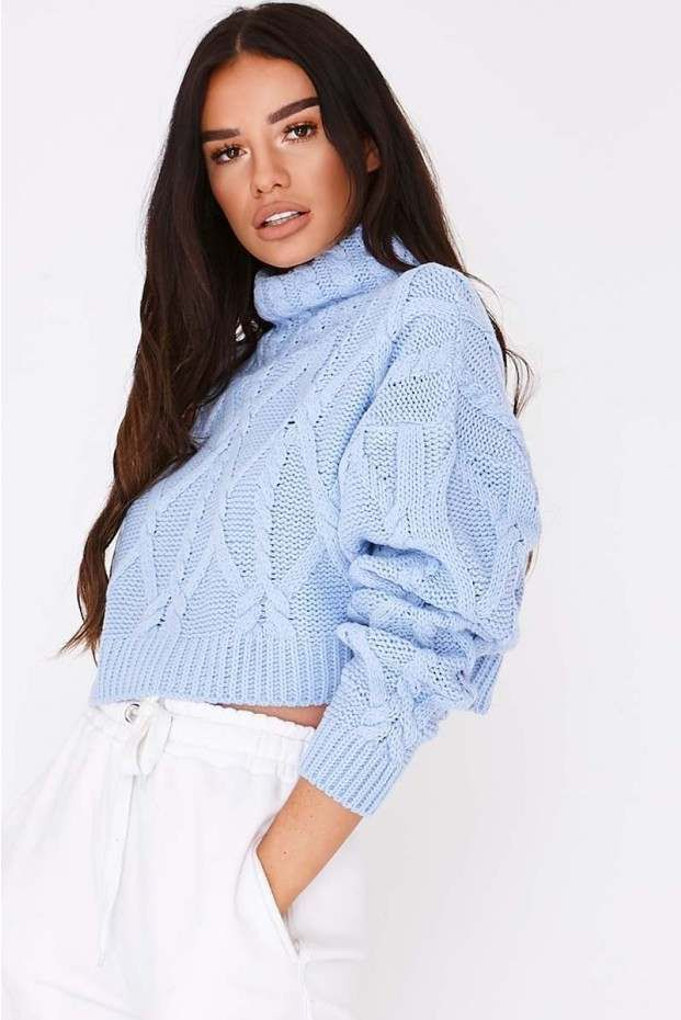 16cc0434851e CABLE KNIT CROPPED JUMPER | Fashion & Style | Oversized jumper ...