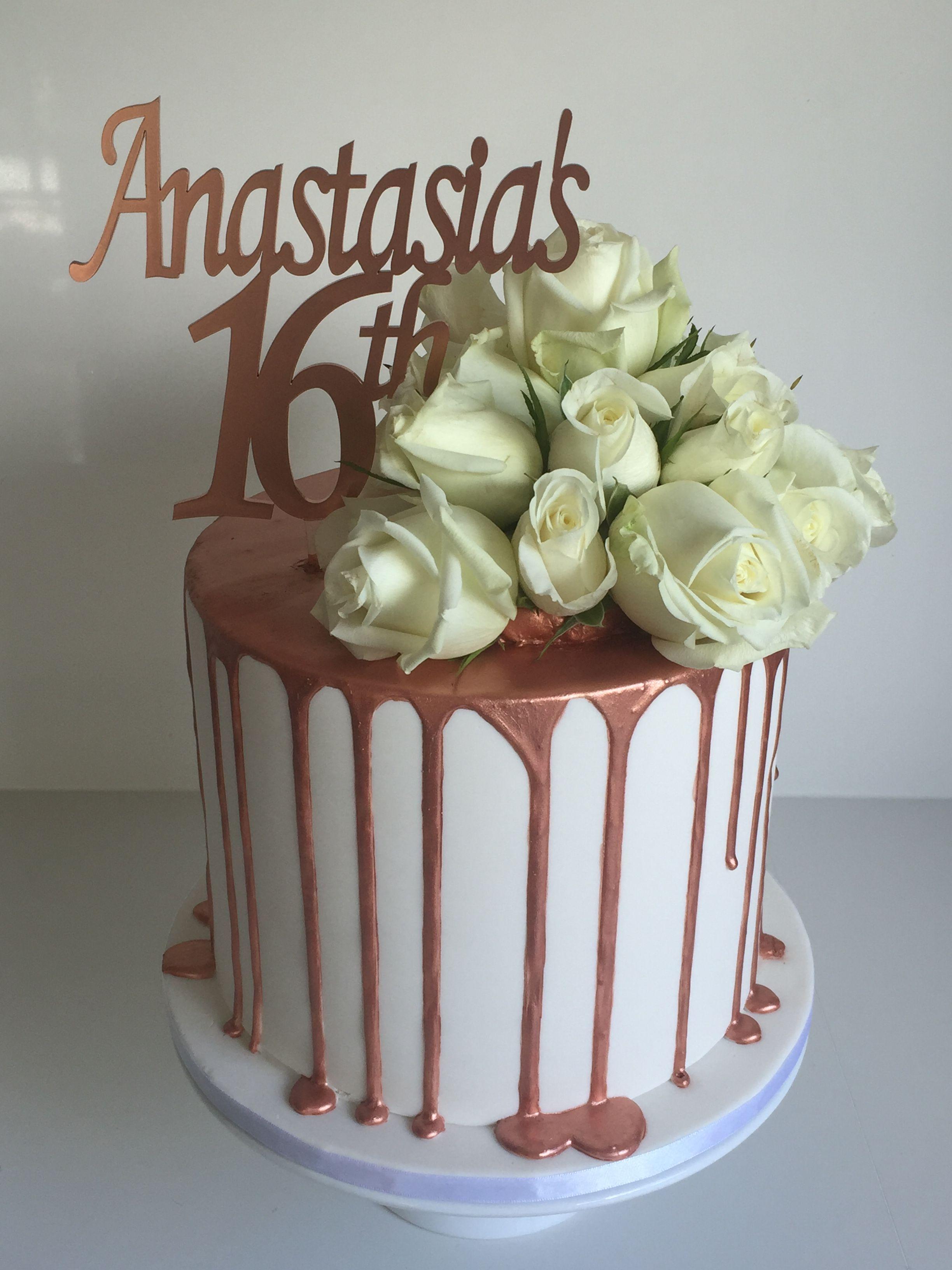 Rose Gold Drip Cake 30th Birthday Cake Topper 10 Birthday Cake Gold Birthday Cake