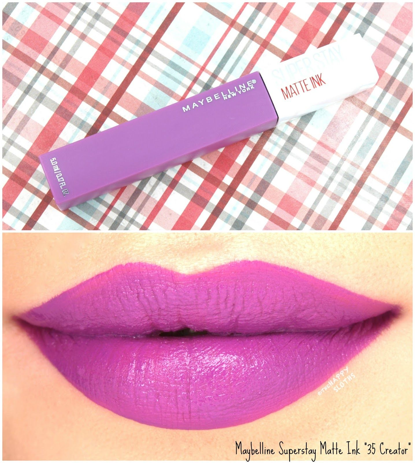 Maybelline superstay matte ink liquid lipstick 35 creator review and swatches