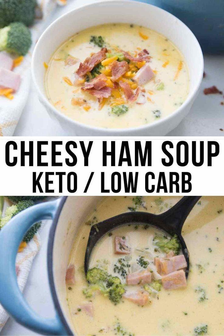 Keto Ham Soup with Broccoli & Cheese (Hearty & Delicious)