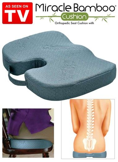 Miracle Bamboo Cushion Zoom In Orthopedic Seat Cushion Seat Cushions Cushions