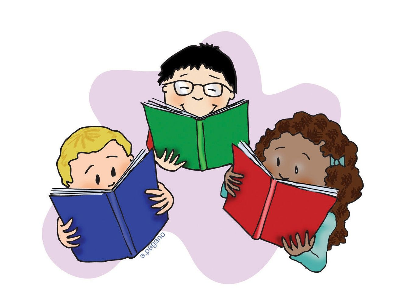 Free children reading books images download free clip art