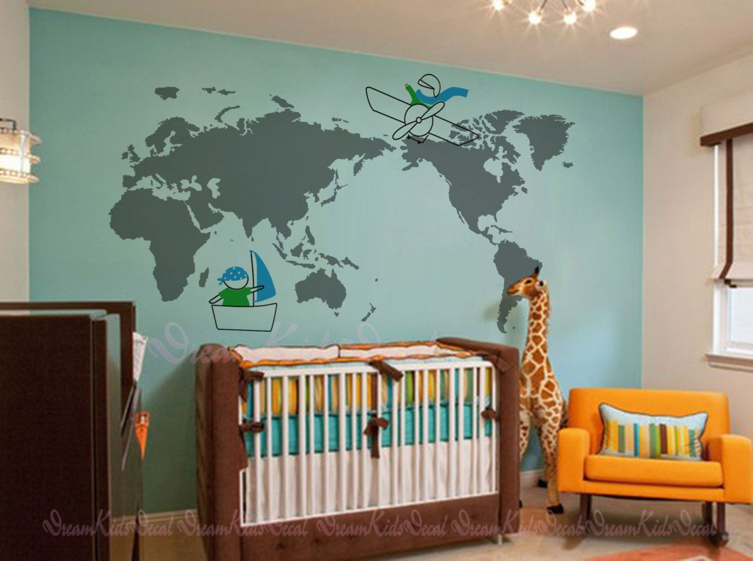 World map decal 79 x 39 for nursery room kids by dreamkidsdecal world map decal 79 x 39 for nursery room kids by dreamkidsdecal gumiabroncs Images