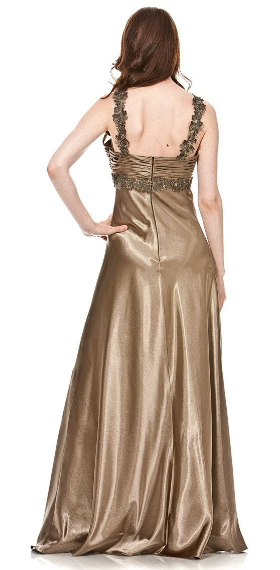 Back of the dress !  I love the emerald color with the mocha color <3