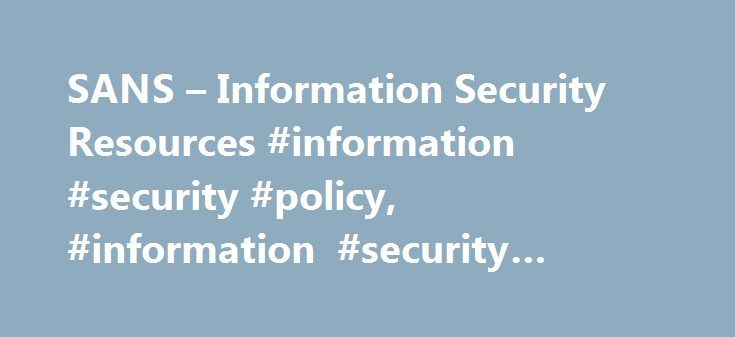 information security policy templates