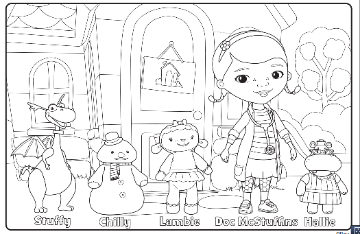 We Have A Diagnosis Disney Junior Doc Mcstuffins Coloring Pages Disney Quilt Disney Coloring Pages