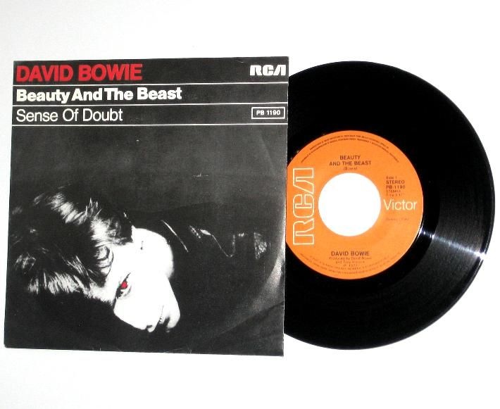David Bowie Beauty And The Beast Sense Of Doubt Holland 45 With Picture Sleeve 44427 39 95 Vinyl Frontie With Images David Bowie Beauty And The Beast Rare Records