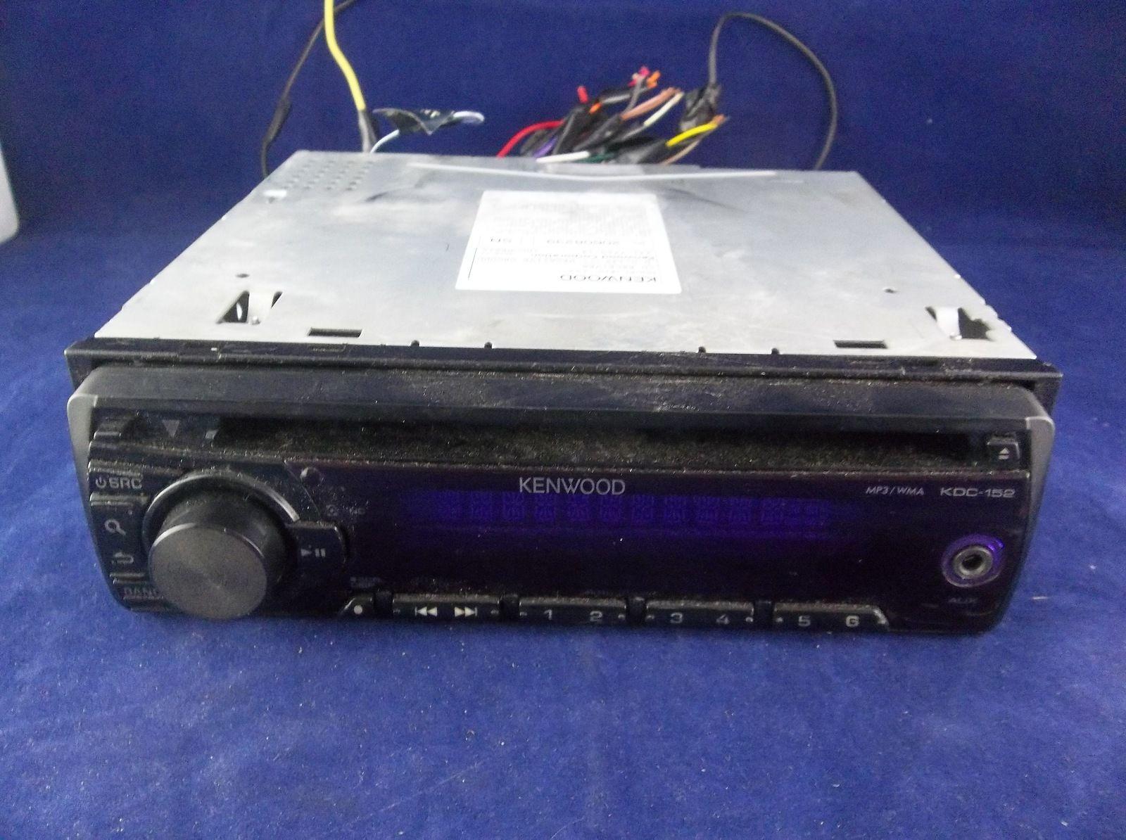 Kenwood KDC-152 AM FM Stereo CD Receiver Aftermarket Radio
