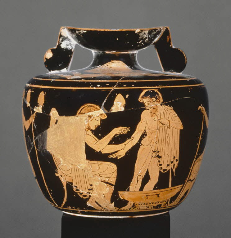 Attic Red Figure Aryballos Medical Care Louvre Louvre Museum Greek Pottery Ancient Greek Pottery