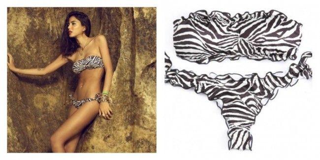 e31bfd443d60 Bikini Lovers estate 2015 con reggiseno a fascia e brasiliana Cebra ...