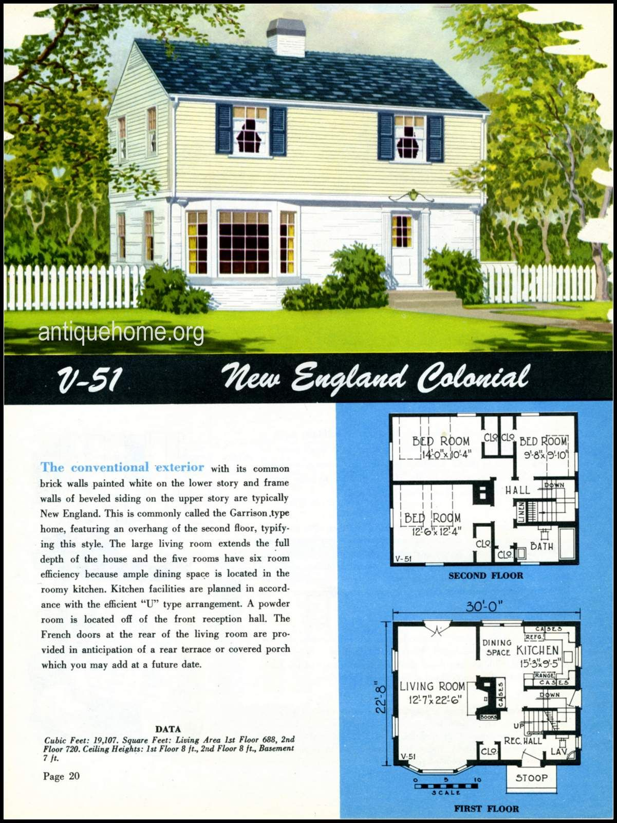 1949 Ranch Style Homes From National Plan Service And Antiquehome Org Early American Homes Vintage House Plans Ranch Style House Plans