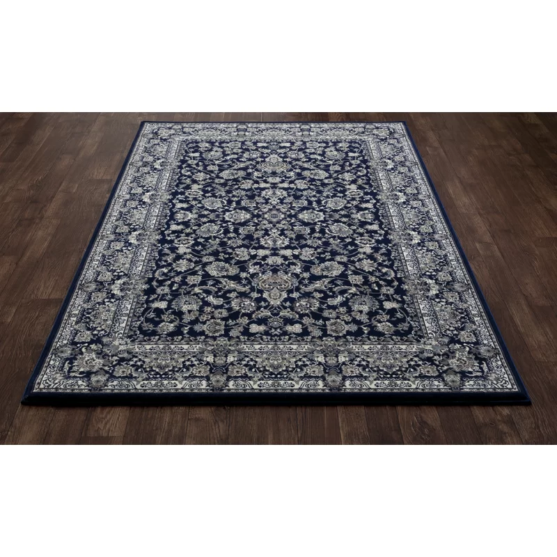 Lang Navy Blue Gray Tan Ivory Area Rug Reviews Birch Lane In 2020 Area Rugs Navy Area Rug Rugs