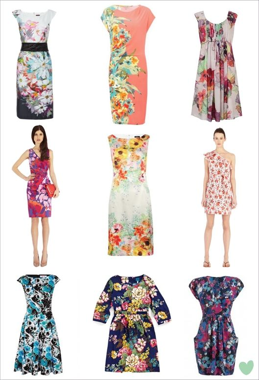 Floral print wedding guest dresses from the wedding for Floral dresses for wedding guests