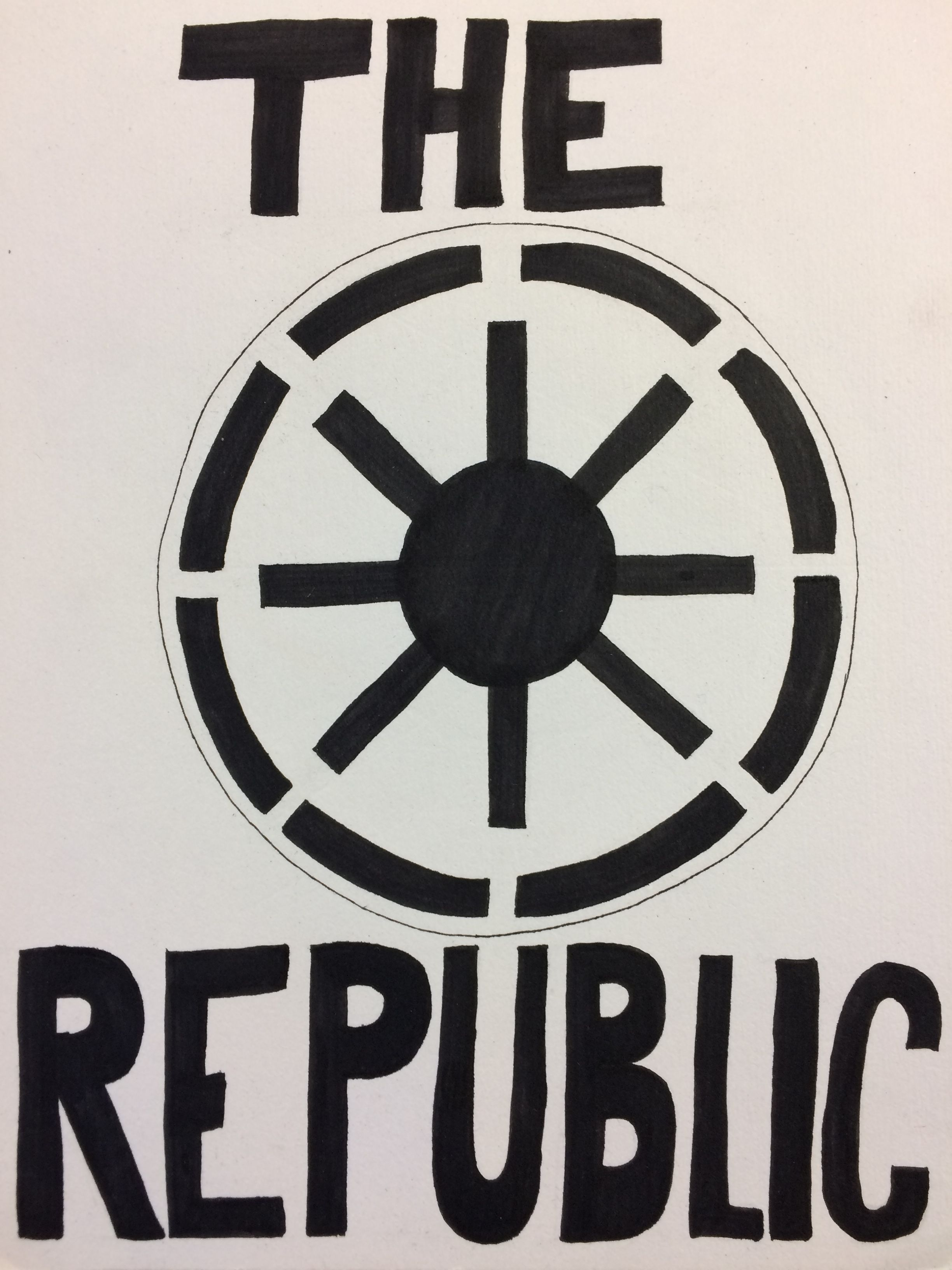 Galactic republic symbol illustration by me my art pinterest galactic republic symbol illustration by me buycottarizona Choice Image