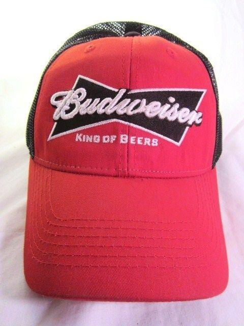 c25ba47642006 Budweiser Bowtie Logo Snapback Cap Hat Mesh Ball Cap 2009 Official Product   beer  bud