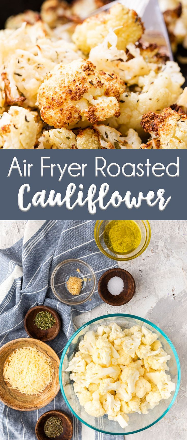 Air Fryer Roasted Cauliflower #healthyrecipes
