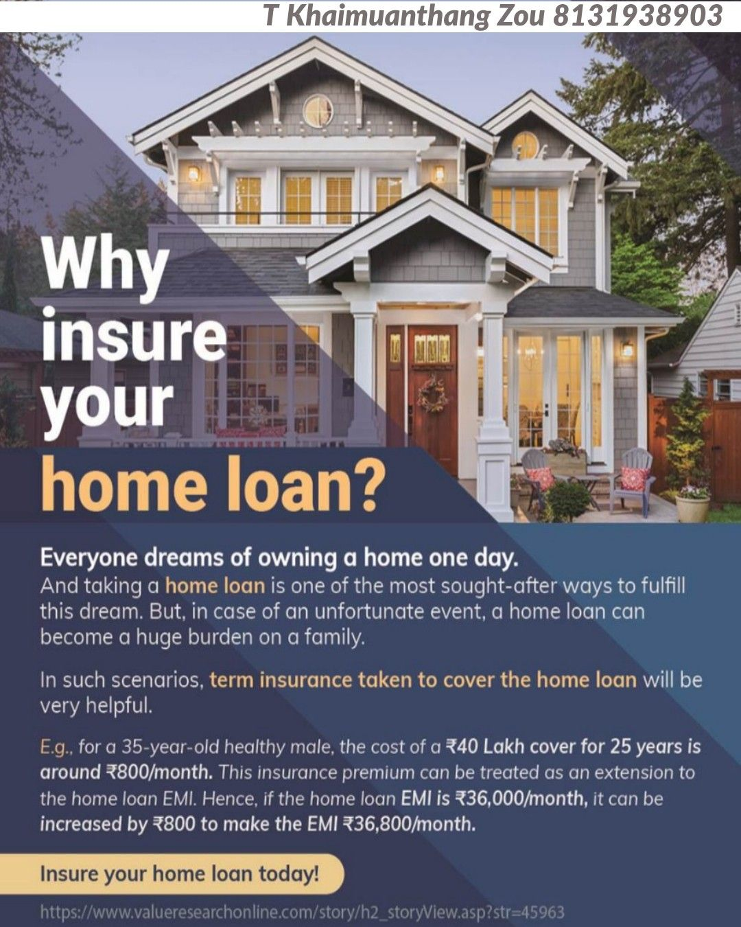 Do You Have A Home Loan Have You Consider Insuring The Loan