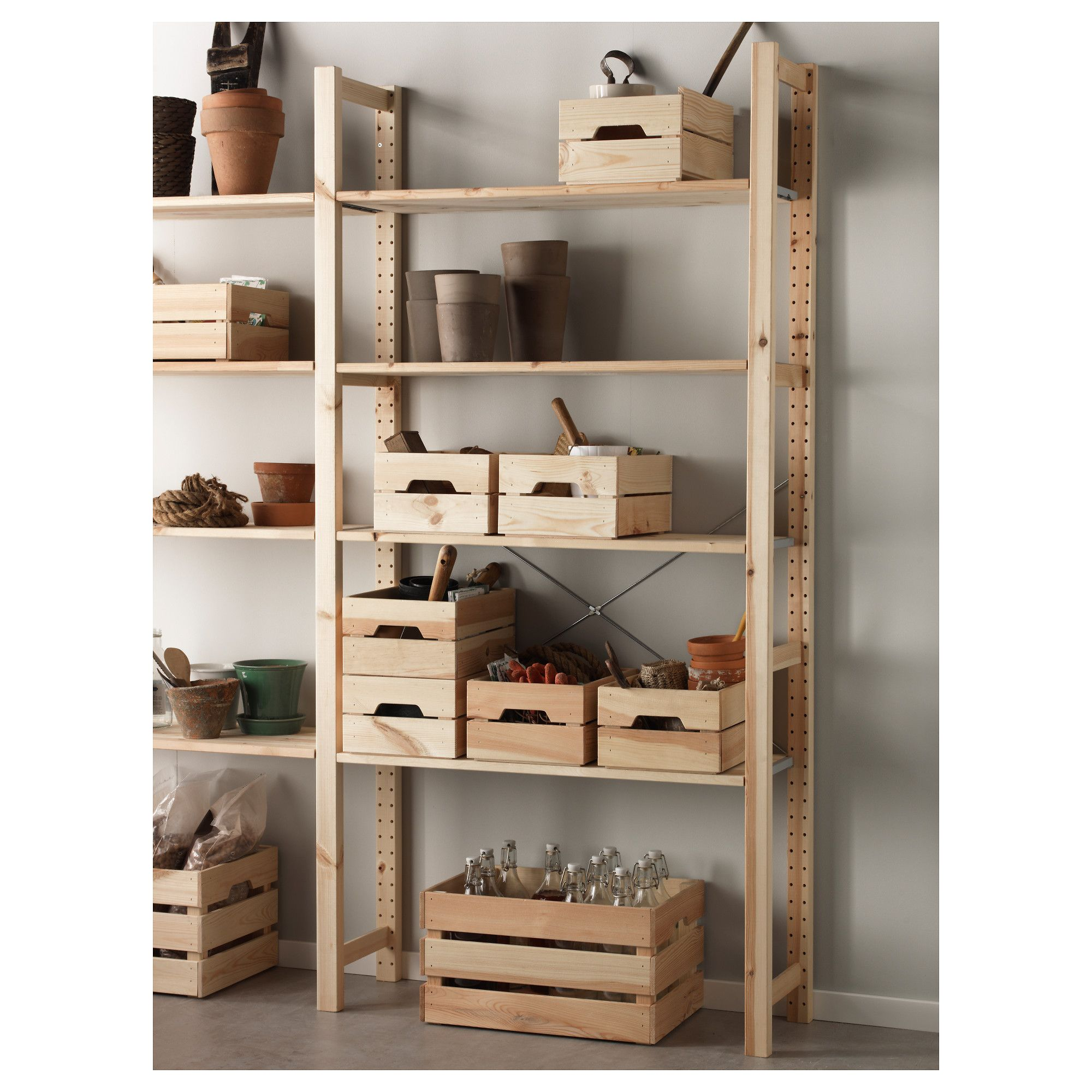 Ikea Knagglig Box Pine In 2019 Products Ikea Boxes