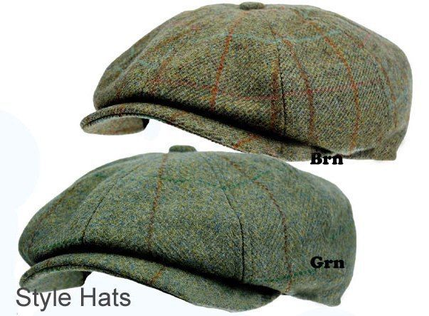 810deee99a3 Men s 8 Panel Tweed Baker boy News boy Gatsby Hat Brown Quality Hats and  Caps UK