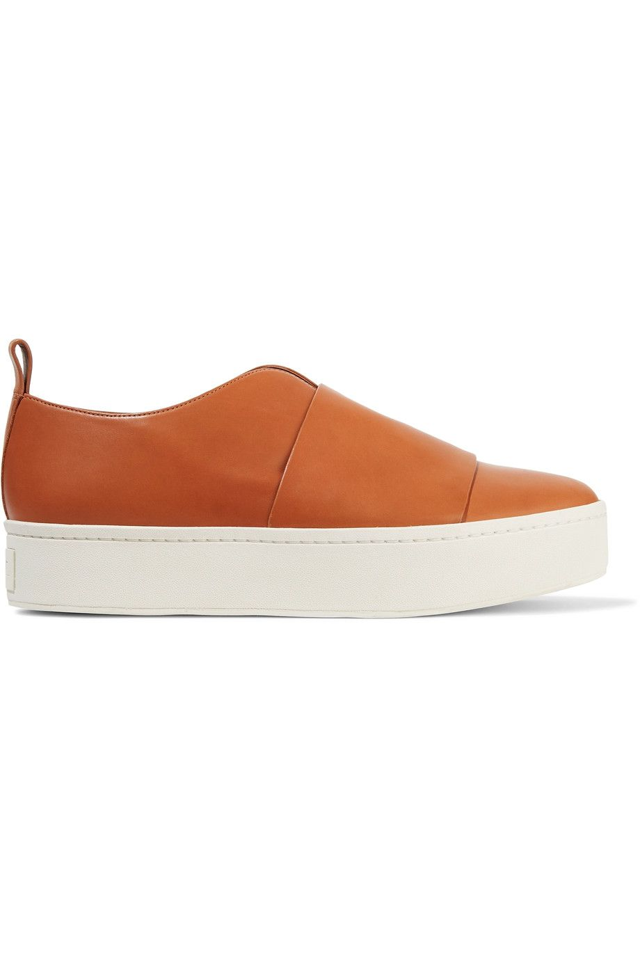 c3788d93550 VINCE Wallace leather platform slip-on sneakers.  vince  shoes ...