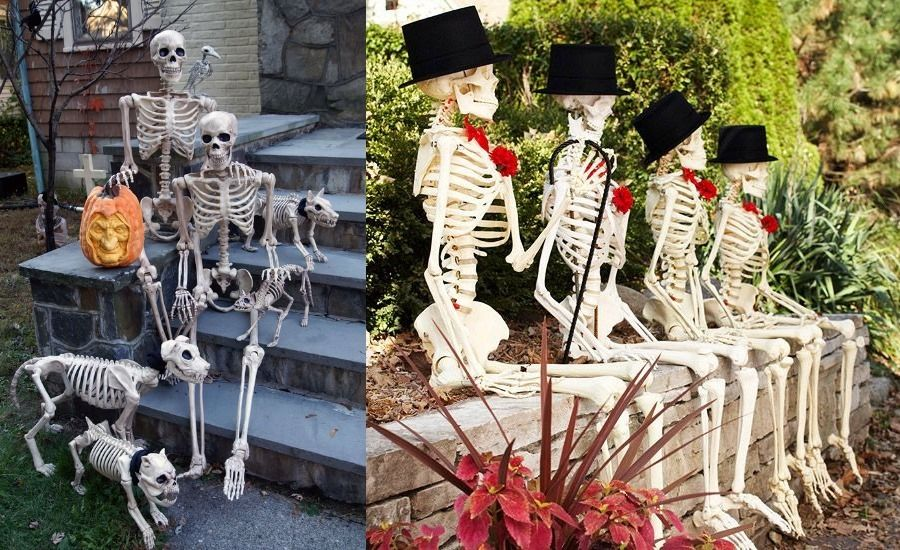 25 Lovely Beach Style Home Office Designs Halloween Decorations Diy Outdoor Halloween Outdoor Decorations Scary Halloween Decorations Outdoor
