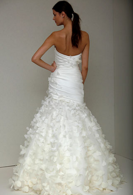 Monique Lhuillier Erfly Wedding Dress Back