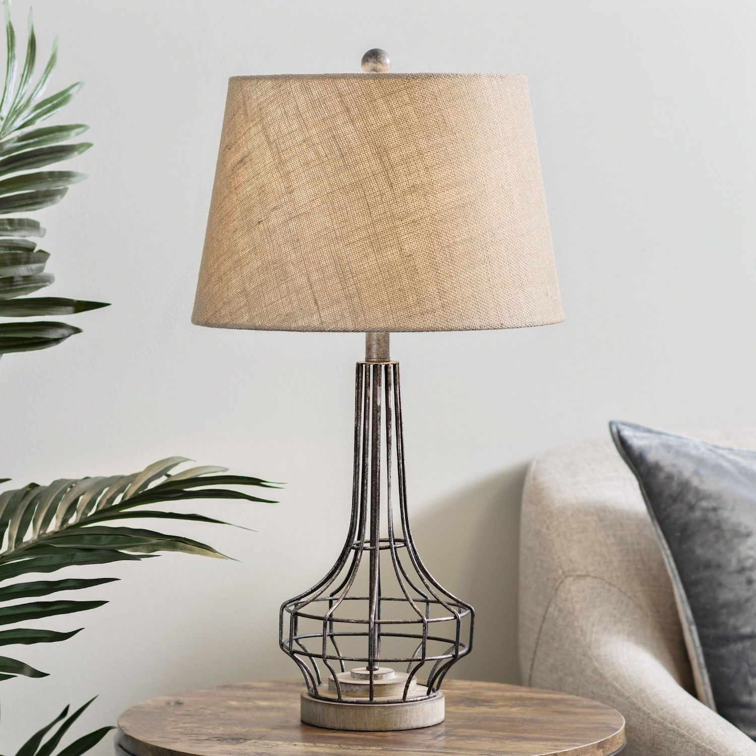 Gus Washed Metal Table Lamp Rustic table lamps