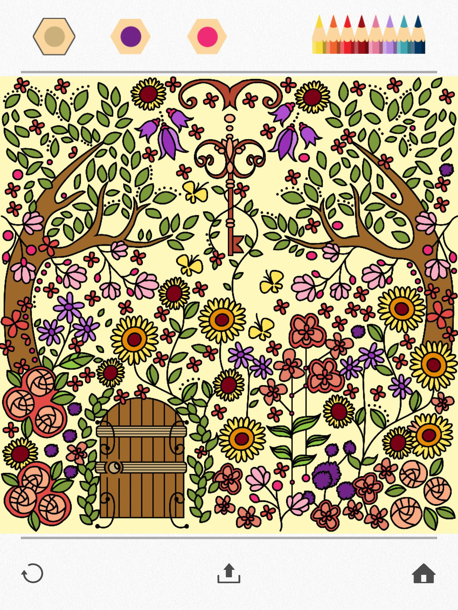 Colorfy coloring book for adults free online - Color A Beautiful Garden Using Colorfy Online Coloring Book For Adults Download It For