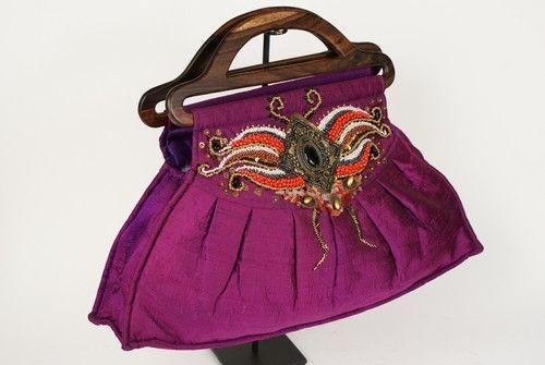 Sari Bag with Intricate Hand Beading No. 1