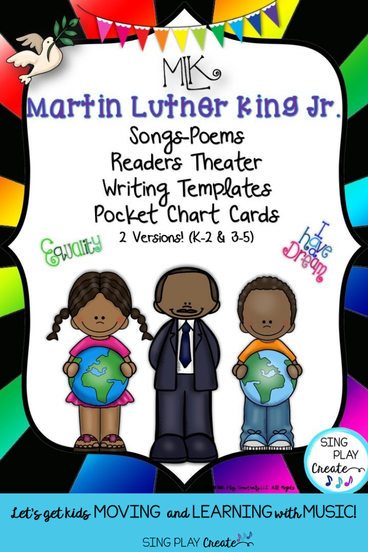 Music Lesson Martin Luther King Jr Song Activities Form Orff Mp3 Tracks Preschool Songs Martin Luther King Jr Music Lessons