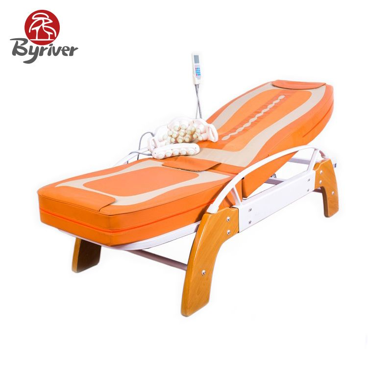 Byriver electric genuine jade stone massage bed 54 roller