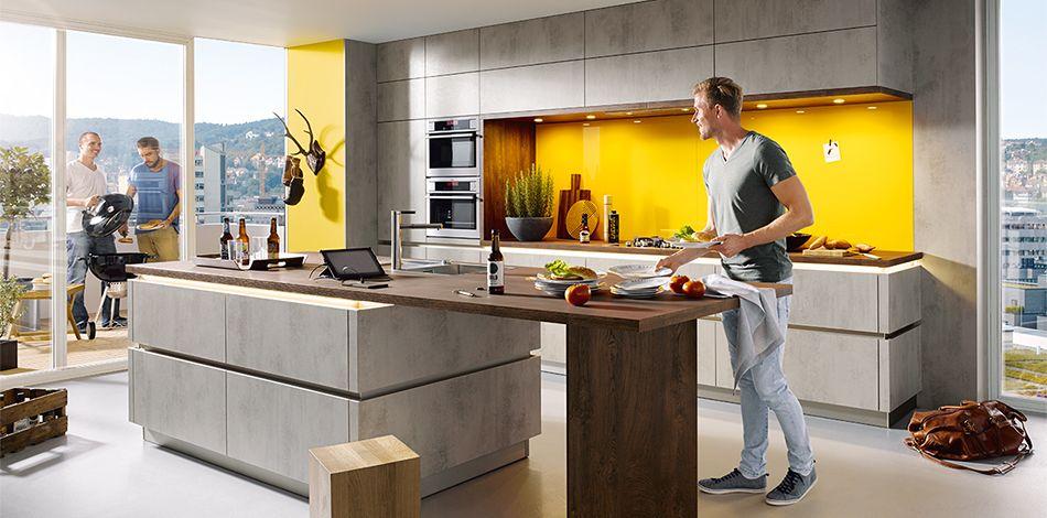 sch ller m belwerk kg elba k023 concrete quartz grey effect k che pinterest. Black Bedroom Furniture Sets. Home Design Ideas