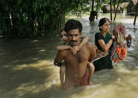 People stranded in Bangladesh flooding