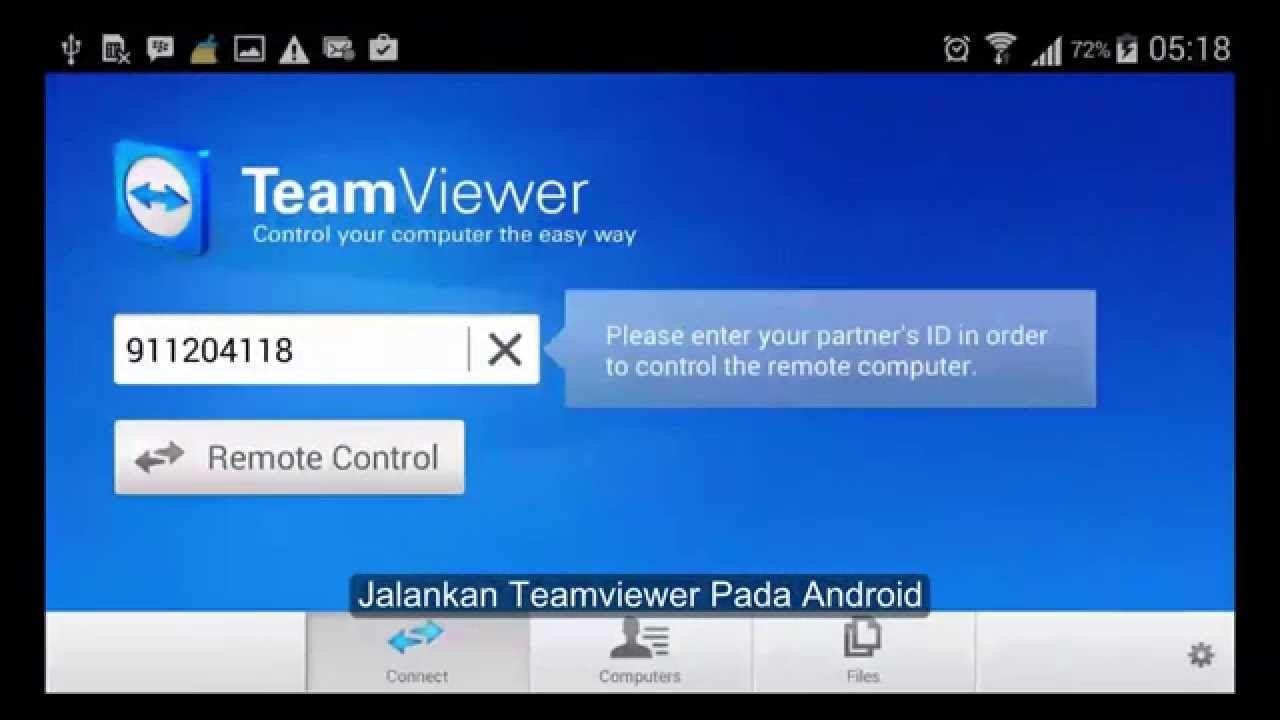 Cara remote pc dari android menggunakan teamviewer 10 terbaru
