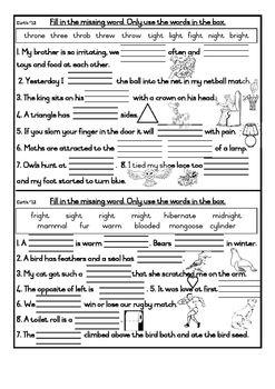 36+ Spelling cloze worksheets Images