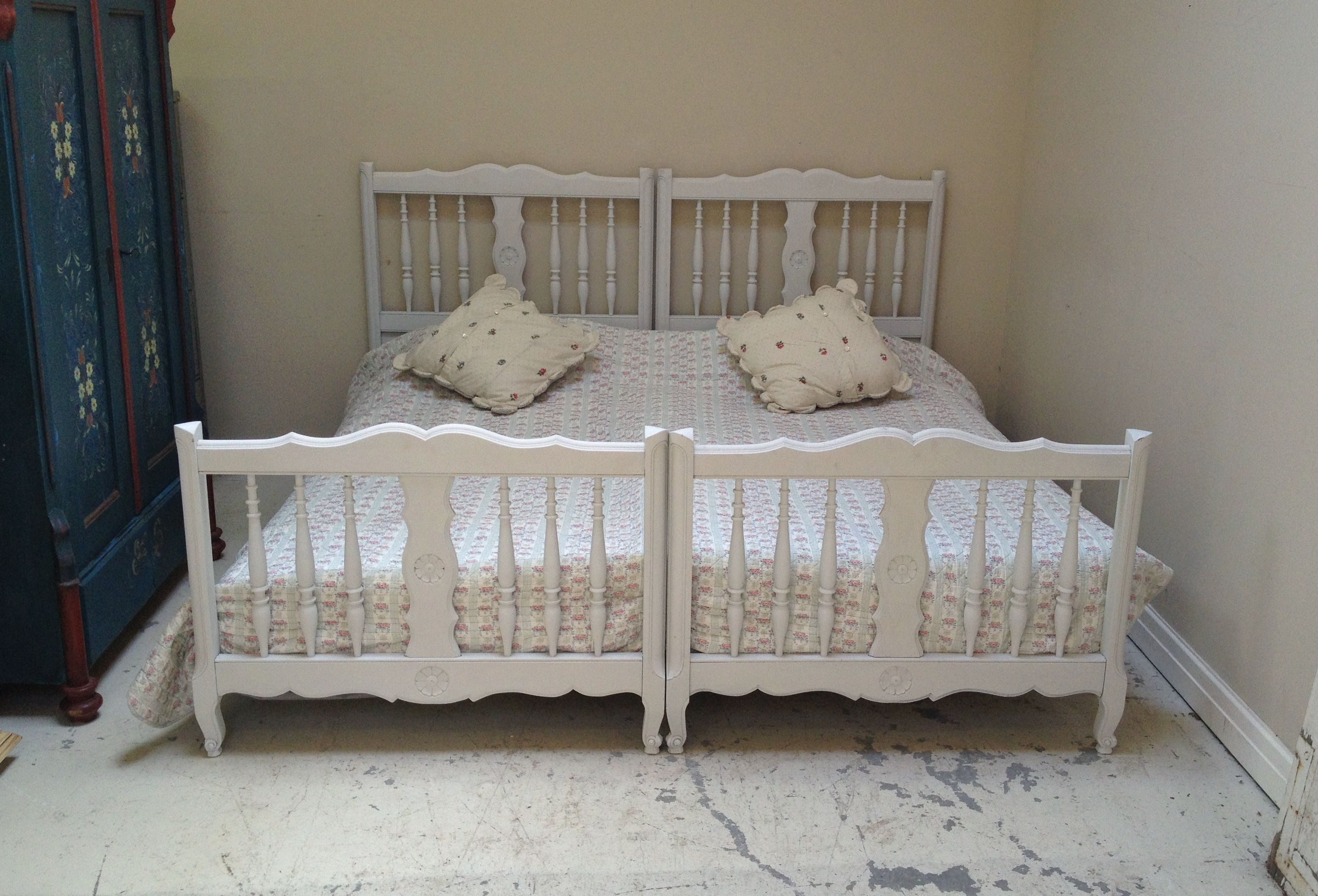 Beautiful Provençal style French beds / vintage single