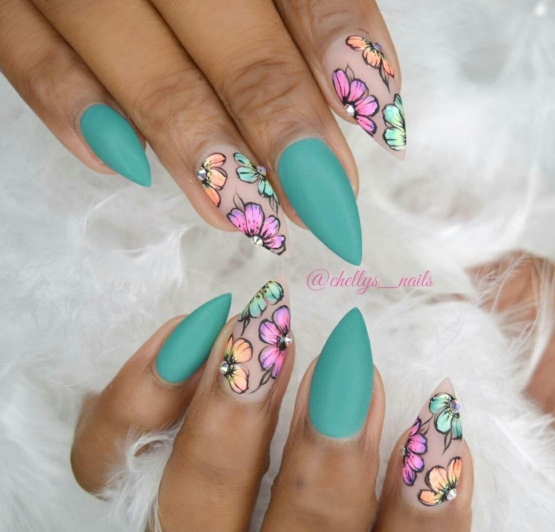 Pin by Loren Osorio on uñas | Pinterest | Blue nails
