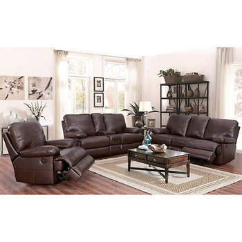 Catterton 3 Piece Leather Power Reclining Set Living Room Sets Living Room Leather Living Room Recliner