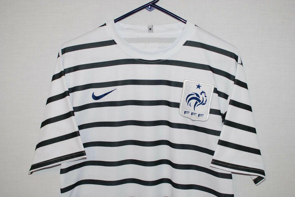 b0c62eb15b5b Nike Dri Fit France FFF Soccer Jersey Shirt Shannon  30 Barely Worn Size L  EUC