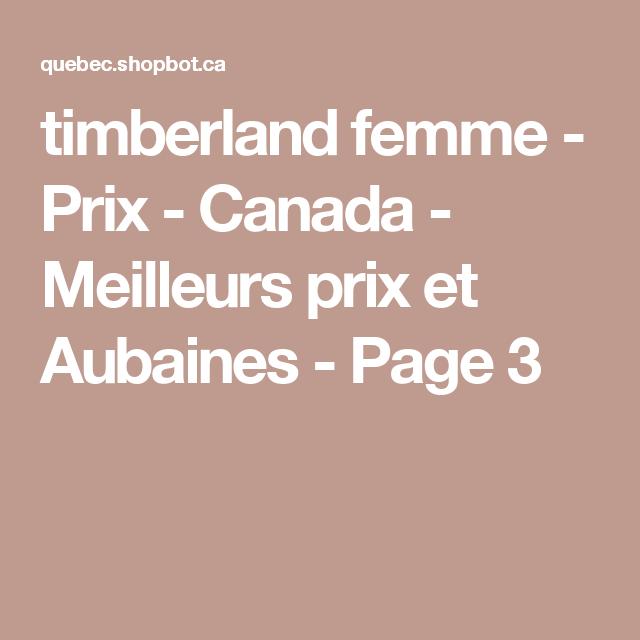 timberland femme canada