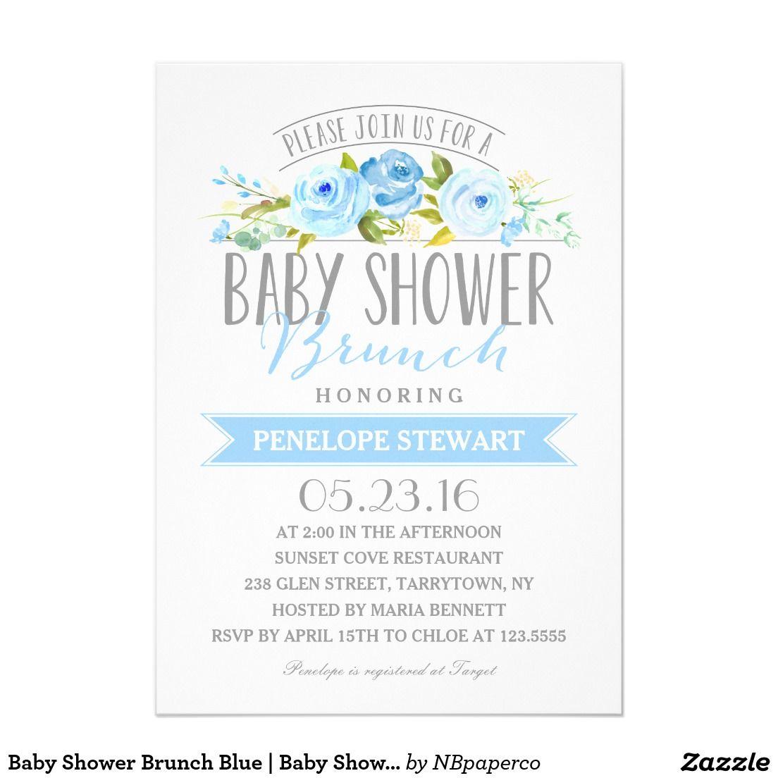 Baby Shower Brunch Blue | Baby Shower Invitation | CELEBRATIONS ...