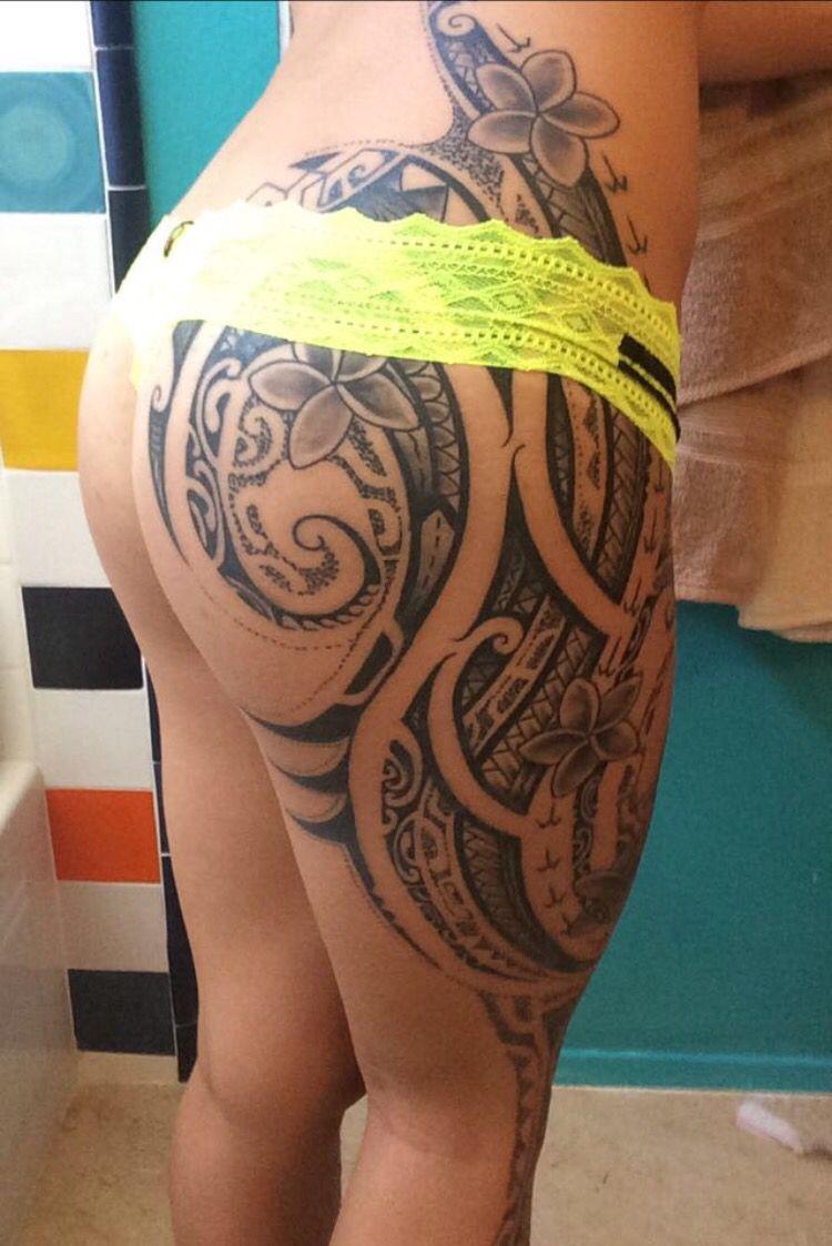 Healed freehand Polynesian tattoo