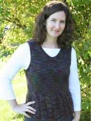 Rosebud Vest pattern by Briar Rose Fibers