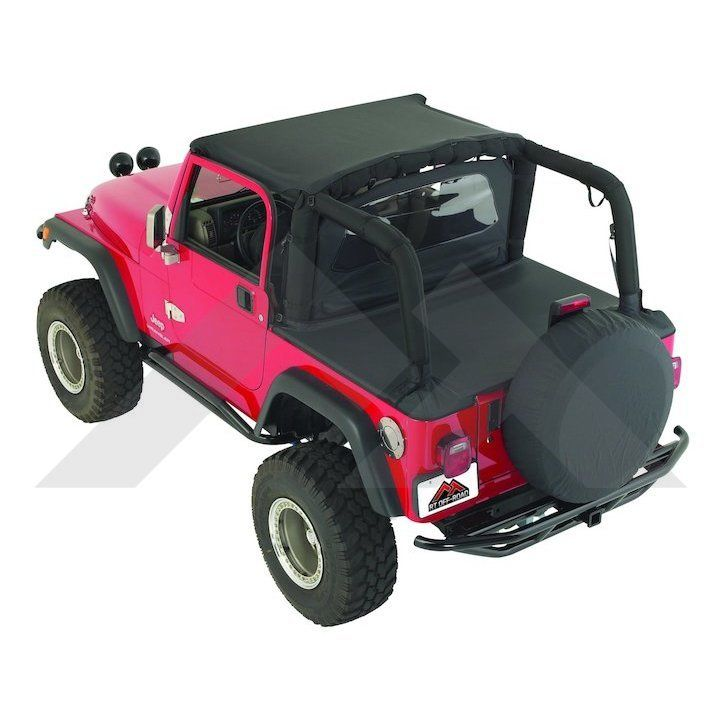 Cover All Kit 87 91 Yj Black Denim Tonneau Cover Jeep